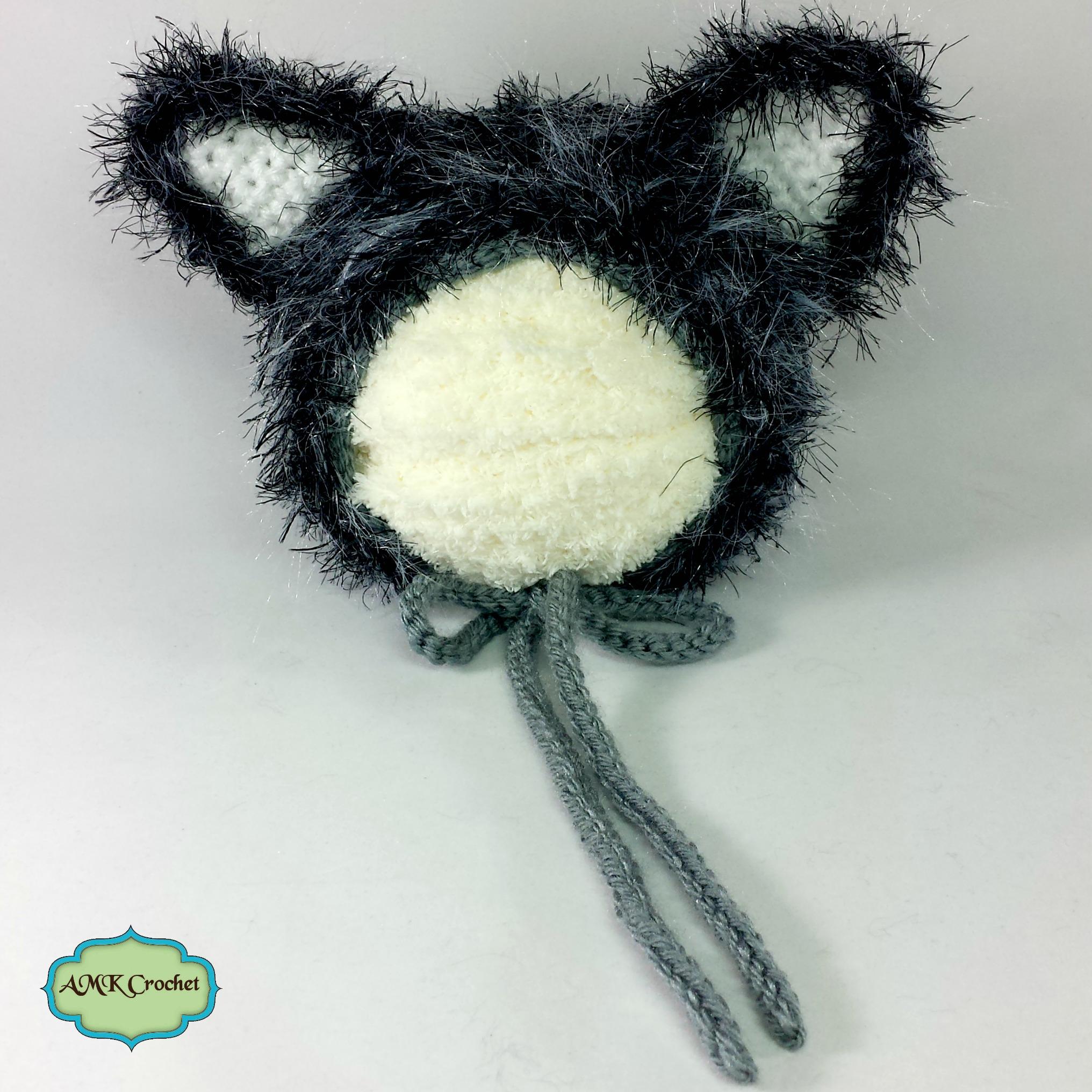 Crochet Newborn Wolf Hat and Unattached Tail Photo Prop Pattern ...