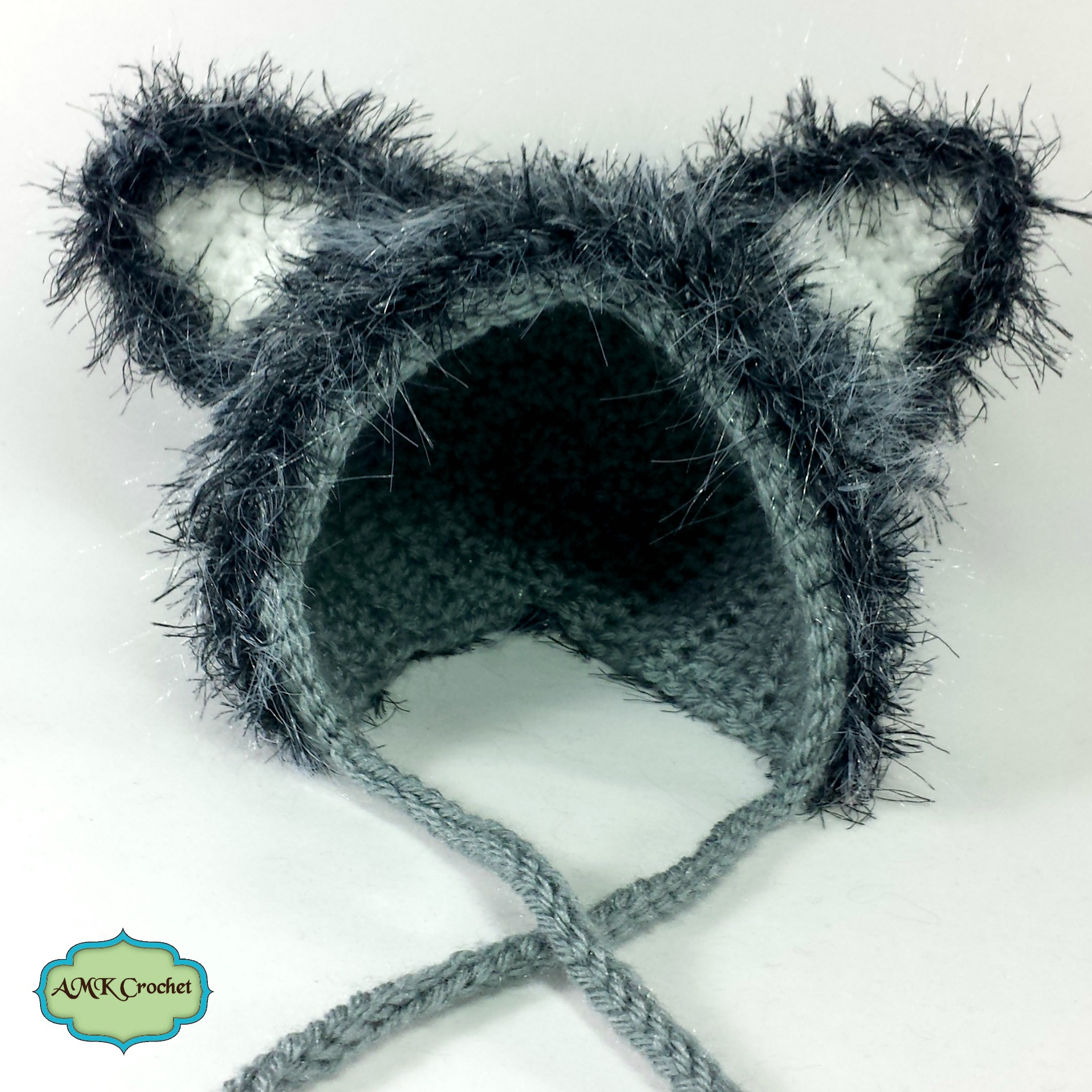 4c10de120a2 Crochet Newborn Wolf Hat and Unattached Tail Photo Prop Pattern ...