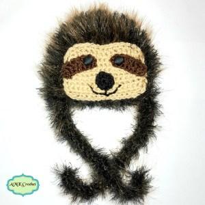 Newborn Sloth Crochet Hat Pattern by AMKCrochet.com