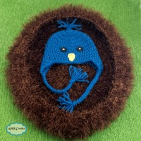 Newborn Blue Bird Hat and Nest Crochet Photo Prop Pattern