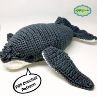 Crochet Humpback Whale Plush Toy Pattern by AMKCrochet.com