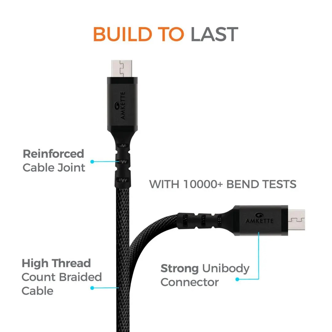 ToughPro Braided Micro USB Cable