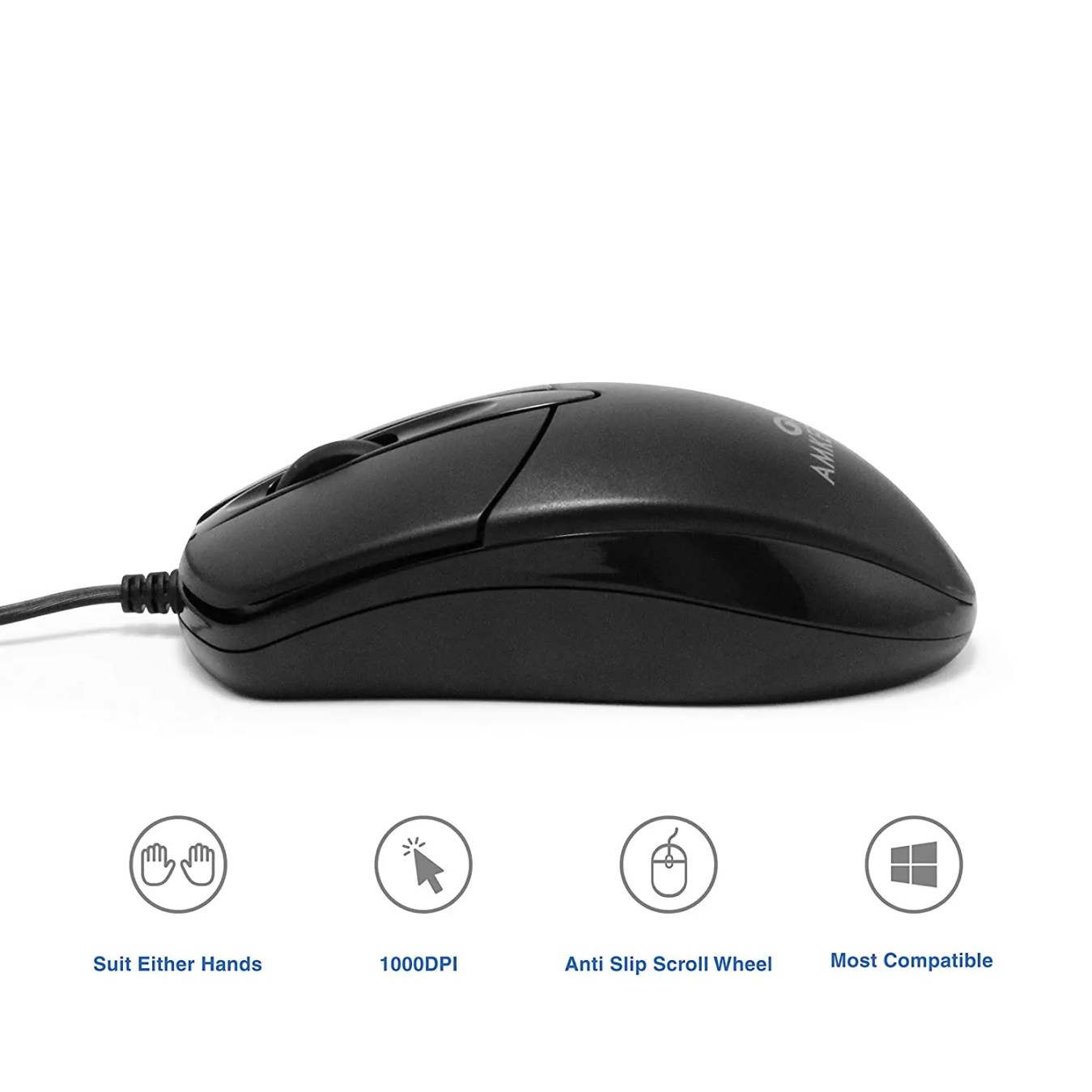 USB connected wired mouse