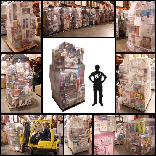 7' Tall Monster GM Pallets! Huge Wholesale Values!