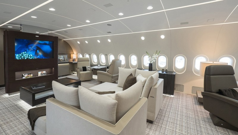 Peek Inside A Boeing Dreamliner Private Jet American Luxury
