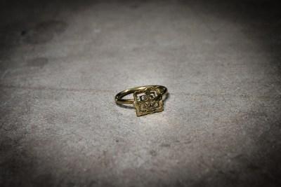 Ammo Jewellery Siem Reap, Cambodia - TR9 - Brass Bayon fine band