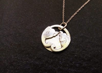 NK8 - Silver Elephant pendant on Silver chain