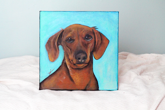 Crazy Rebels Custom Pet Painting // Ammo the Dachshund