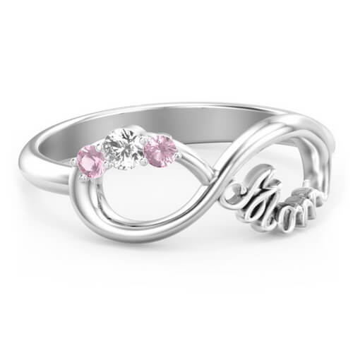 Mom's Infinite Love Ring with 3 Stones