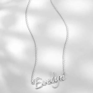 Personalized Name Necklace Silver