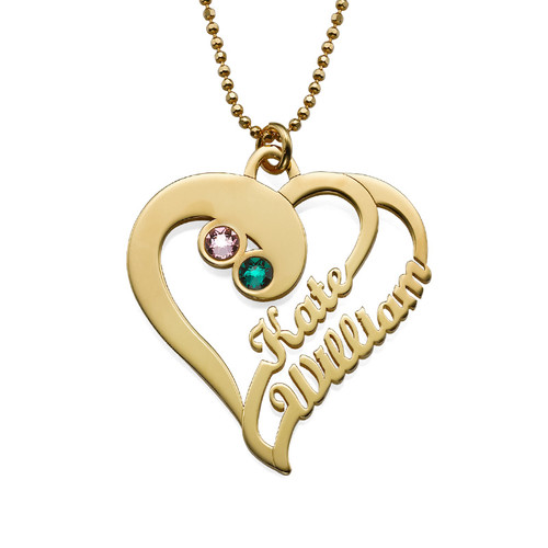 Two Hearts Forever One Necklace - Gold Plated