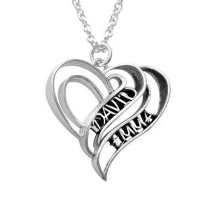 Personalized 3D Heart Necklace