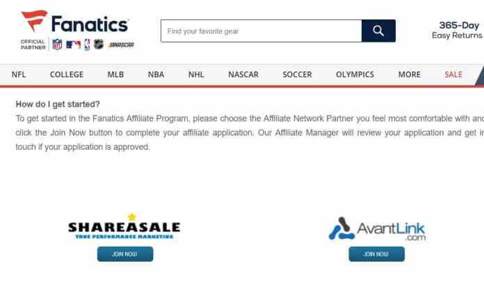 Fanatics affiliate marketing programs