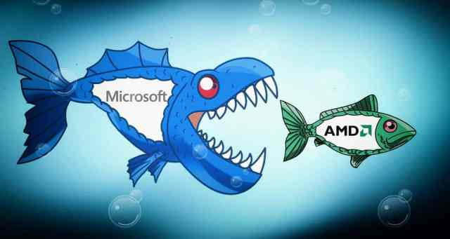 شركة AMD من نصيب من؟ مايكروسوفت أو سامسونج أم intel؟