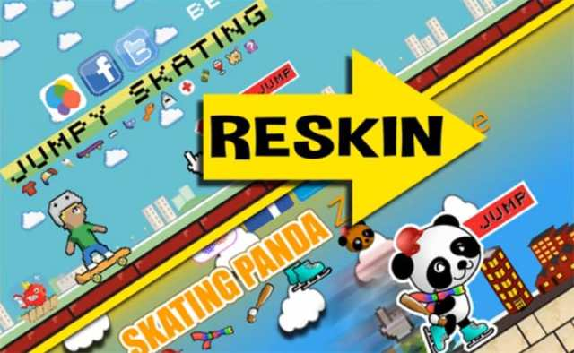 start-reskinning ما هو الريسكين Reskin؟ هل هو مقبول في مجال التطبيقات؟