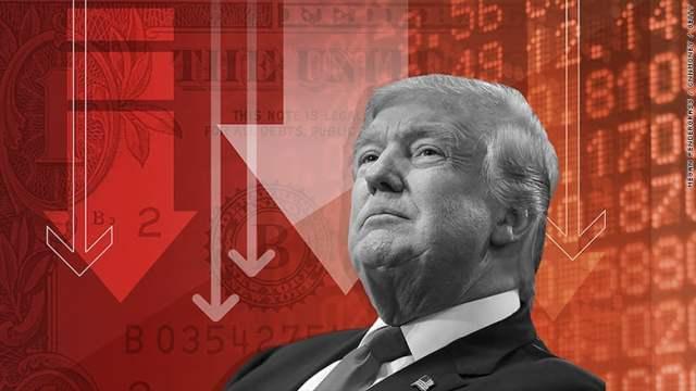 dollar-markets-down-trump أخفضوا توقعاتكم يا قطيع ... وول ستريت حزينة لأن دونالد ترامب مخيب للآمال