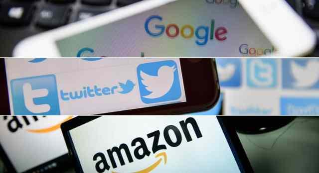 google-amazon-twitter-logos 5 أسباب منطقية تدفع أمازون للإستحواذ على تويتر