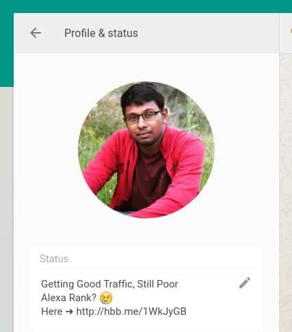 WhatsApp-Status-Update كيفية جلب الزيارات من واتساب إلى المواقع الإلكترونية