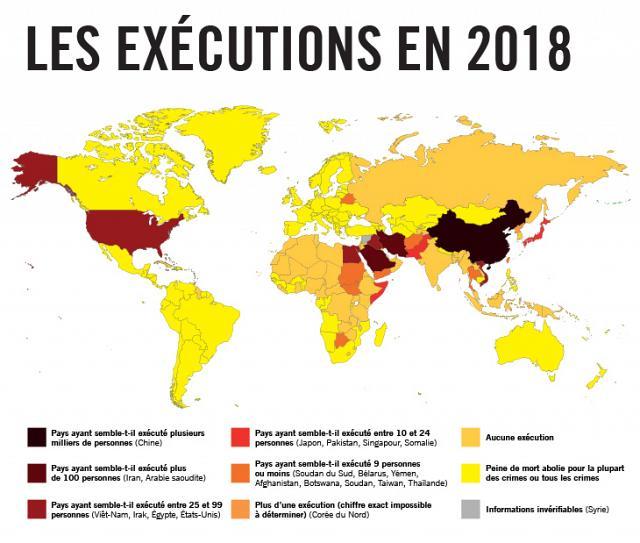 La peine de mort en 2018 - Amnesty International Belgique