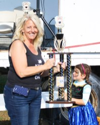 Cindy and Brad Simmons from Lucky Dog BBQ placed second at the Junction City Chili Cook-Off