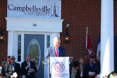 Senator Mitch McConnell spoke at the dedication ceremony of the Conover Education Center at Campbellsville University.