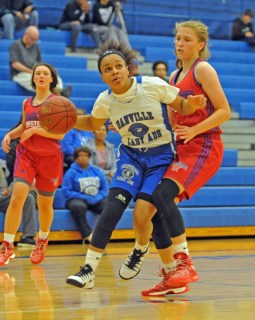 Matt Overing/matthew.overing@amnews.com Danville's Ivy Turner, along with teammates Alyvia Walker and Zenoviah Walker, will lead the Admirals from the perimeter this season.