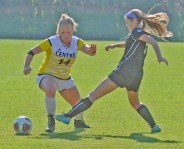 By Matt Overing/matthew.overing@amnews.com Centre midfielder Amy Dean makes her way around a Hardin-Simmons defender during the first half of Sunday's second-round game.