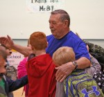 Kendra Peek/kendra.peek@amnews.com Ronnie Bottoms, beloved Perryville Elementary custodian, was swarmed with kids following the announcement of Ronnie Bottoms Day at the school on Nov. 22. Bottoms will be retiring effective Nov. 30 after 21 years at the school.