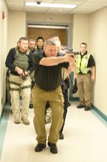 The Boyle County Sheriff's department searched for the shooter during the active shooter drill.