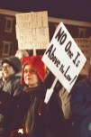 Sylvia Tatum participates in Thursday nights protest in front of the Boyle County Courthouse.