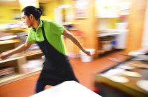 """Israel Gonzalez stayes on the move in the kitchen of La Hacienda Tienda Mexicana Y Taqueria in Danville. """"I love talking to customers, but usually I don't have the time to really stop and talk."""""""