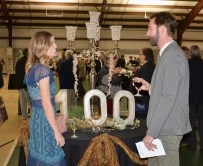 Cassie and Zach Baeker celebrate the Danville Boyle County Chamber of Commerce's 100th Anniversary Bash. Photo by Robin Hart.