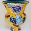 L#1a, Untitled Yellow Vase, glazed earthenware with luster, 23 h x 17.25 in.diameter, Collection of David Kalin