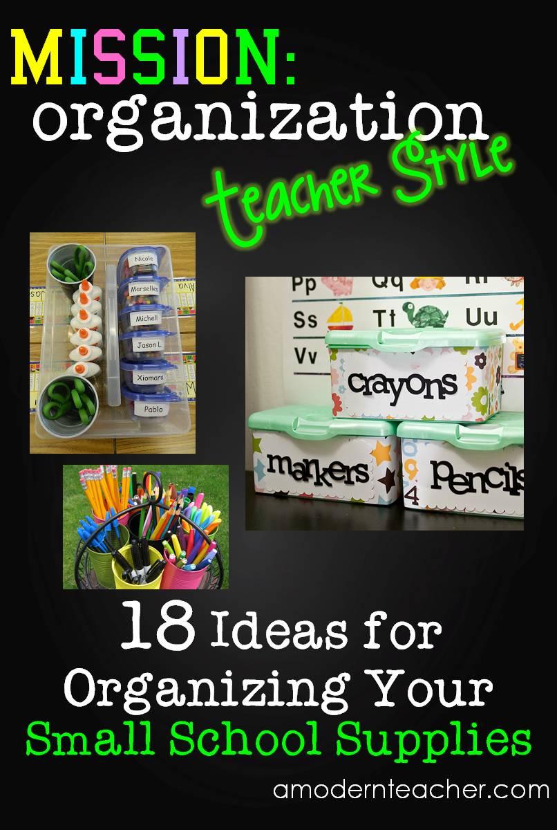 Modern Classroom Supplies ~ Mission organization organizing all those little school