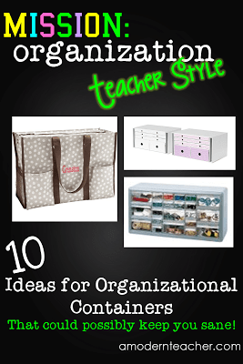 organizational containers from www.amodernteacher.com