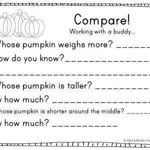 pumpkin math freebie www.amodernteacher.com