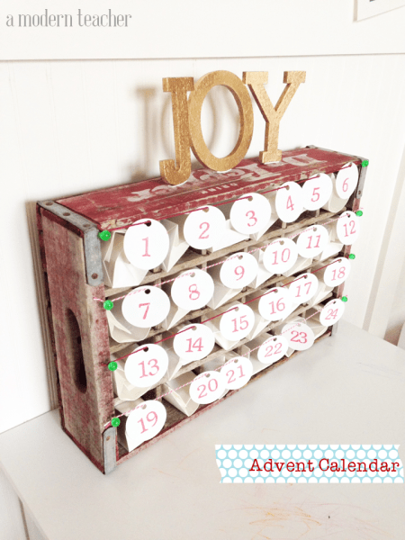 simple advent calendar www.amodernteacher.com