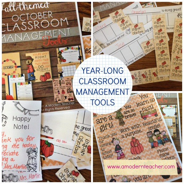 Year Long Classroom Management Tools