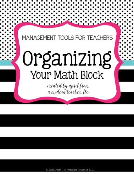 Organizing Your Math Block