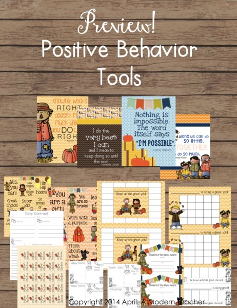 Positive Behavior Tools