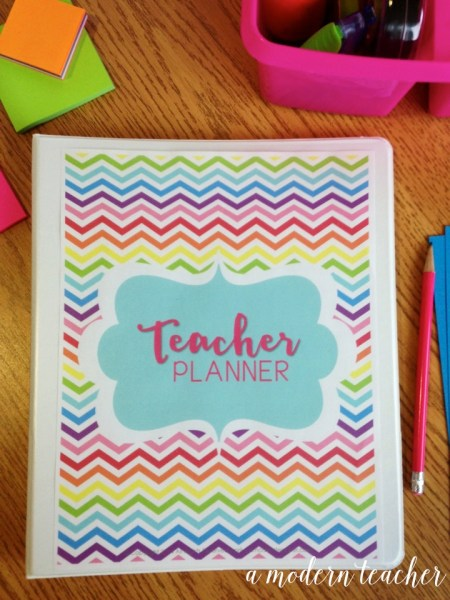 A Modern Teacher Chevron Planner