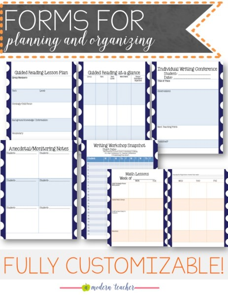 a modern teacher planners