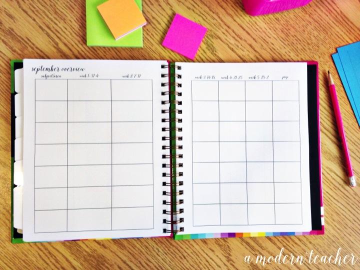 a modern teacher personal planner