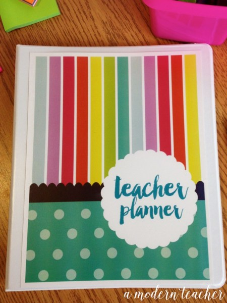 a modern teacher planner birds