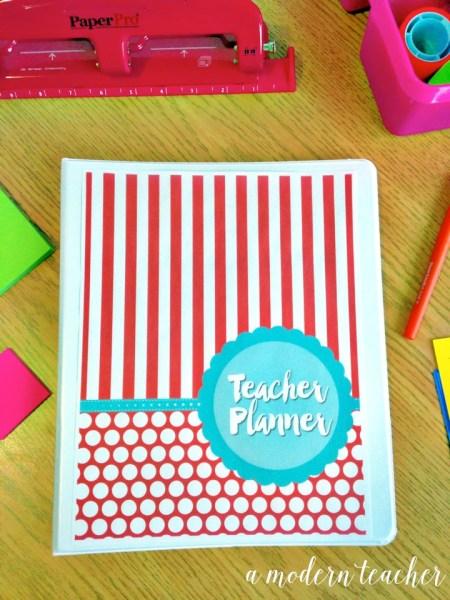 a modern teacher planner carnival