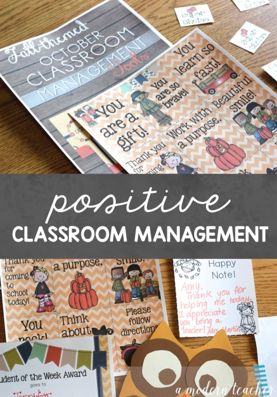 Positive Classroom Management Ideas
