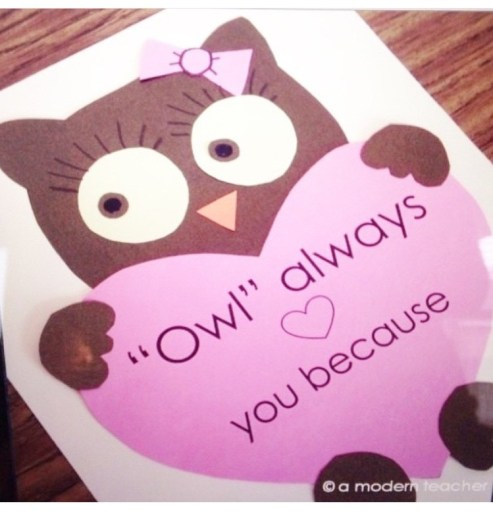 Owl Craft Valentine's Day