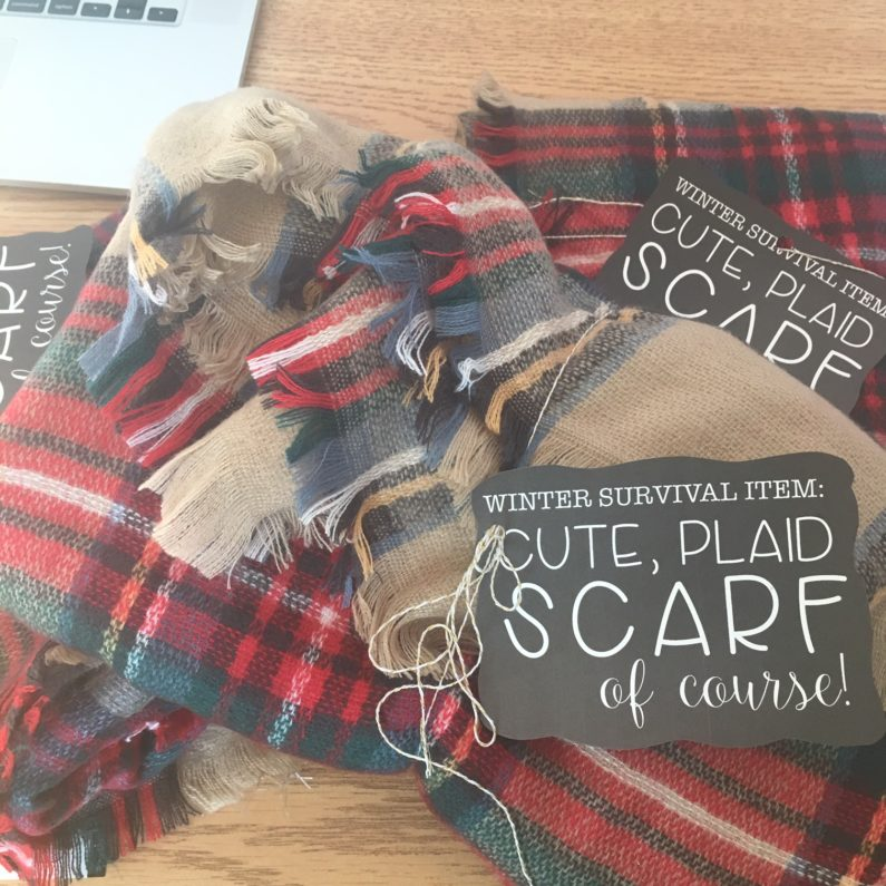 free scarf gift tag - A Modern Teacher