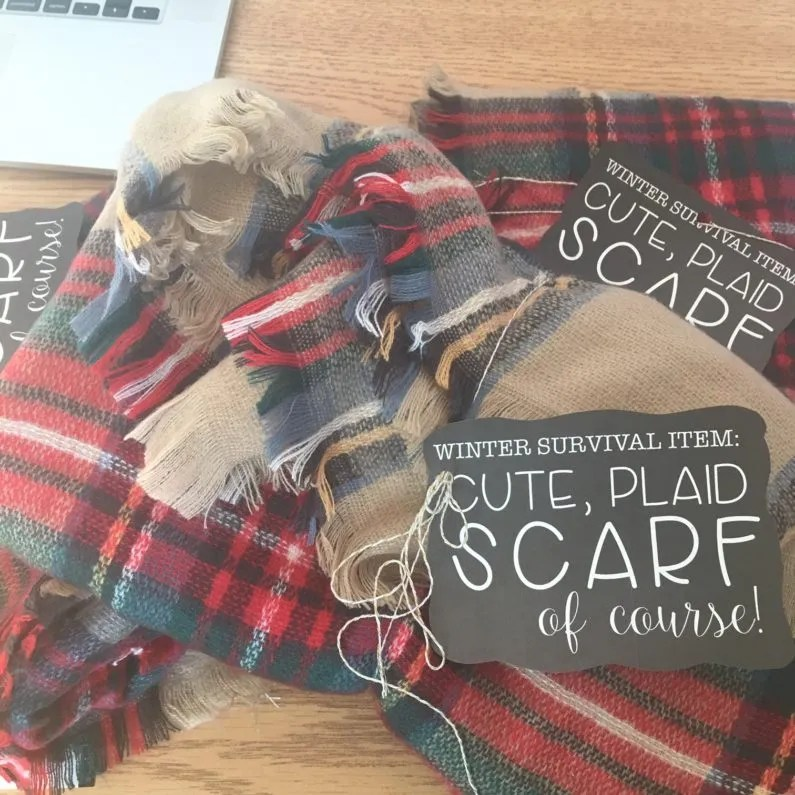 free scarf gift tag