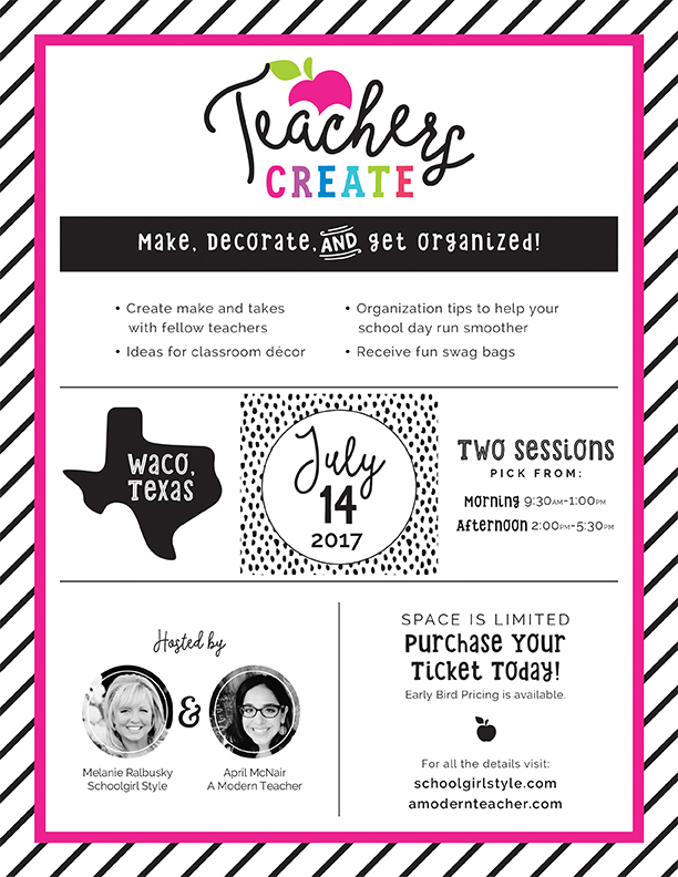 BIG Announcement!  Teachers CREATE!